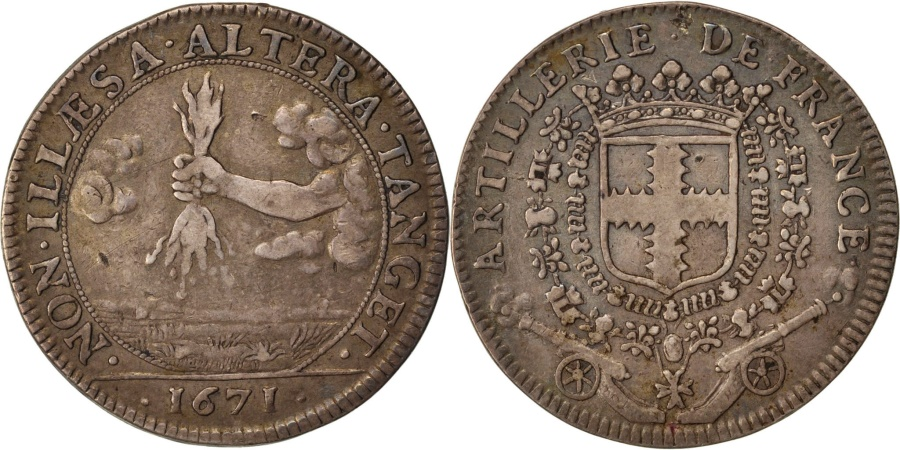 World Coins - France, Royal, Token, 1671, , Silver, Feuardent #975, 6.25