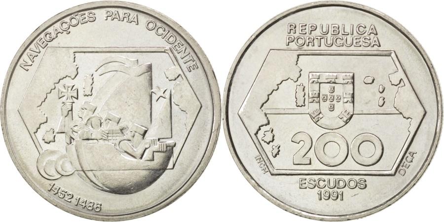 200  ESCUDOS PORTUGAL 1991 NACIGATION