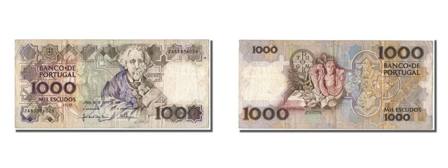 World Coins - Portugal, 1000 Escudos, 1990, KM #181g, 1990-07-26, EF(40-45), 2A