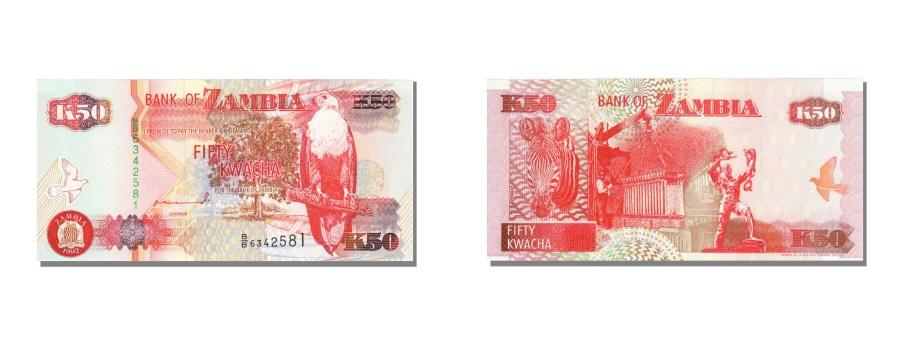 World Coins - Zambia, 50 Kwacha, 1992, KM #37a, UNC(65-70), BB 6342581