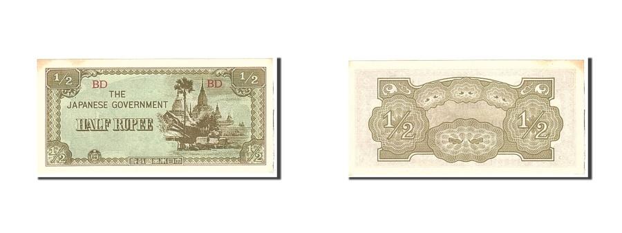 World Coins - Burma, 1/2 Rupee, 1942, KM:13b, Undated, UNC(63)