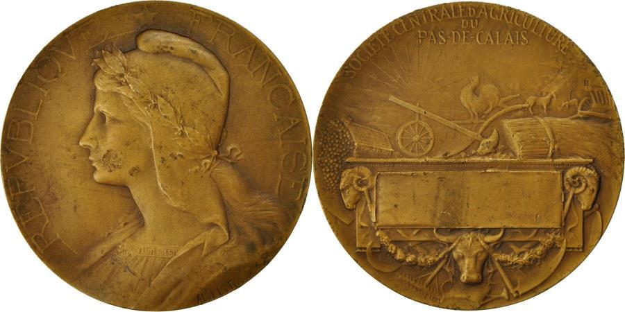 World Coins - France, Medal, Société d'Agriculture du Pas-De-Calais, Abel La Fleur