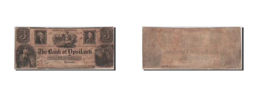 World Coins - United States, 3 Dollars, 1835, VF(20-25)