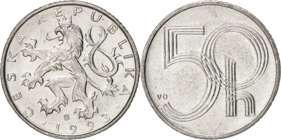 World Coins - Czech Republic, 50 Haleru, 1993, , Aluminum, KM:3.1