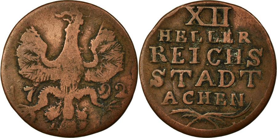 World Coins - Coin, German States, AACHEN, 12 Heller, 1792, , Copper, KM:51