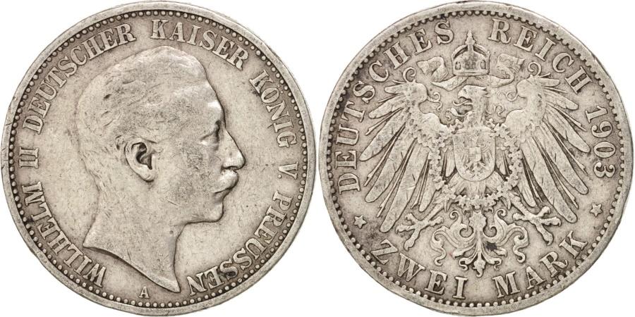 World Coins - German States, 2 Mark, 1903, Berlin, KM #522, , Silver, 28, 11.01