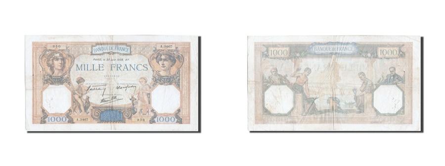 World Coins - France, 1000 Francs, 1 000 F 1927-1940 ''Cérès et Mercure'', 1938, KM #90c, 1...