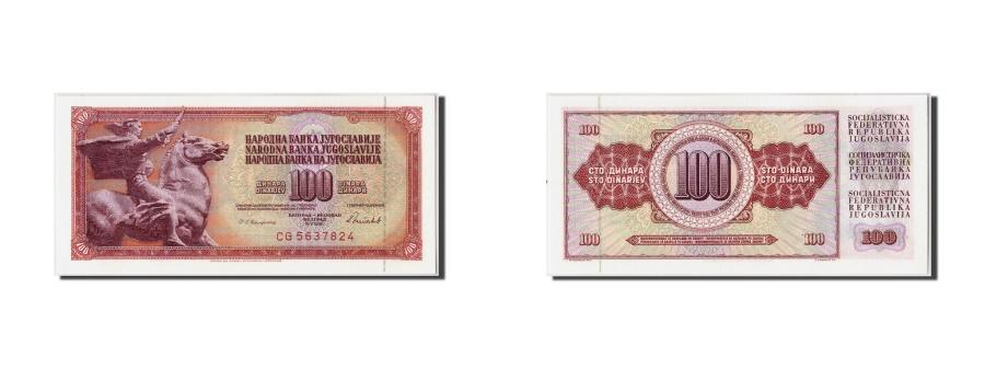 World Coins - Yugoslavia 100 Dinara 1986 KM:90c 1986-05-16 UNC(65-70) CG5637824