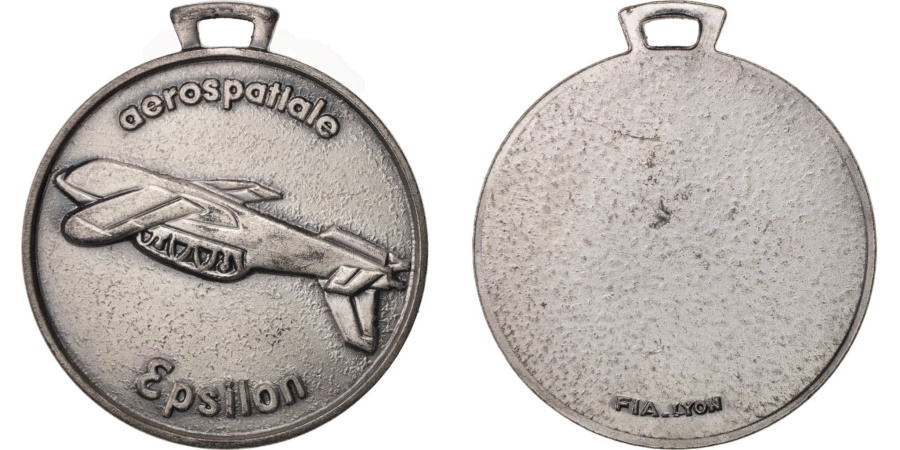 World Coins - France, Medal, Aerospatial Epsilon, Sciences & Technologies, , Bronze