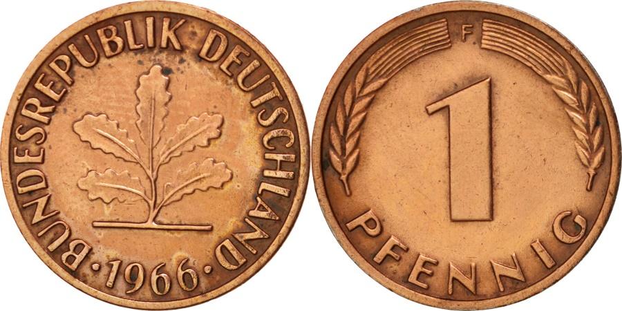 World Coins - GERMANY - FEDERAL REPUBLIC, Pfennig, 1966, Stuttgart, , KM:105