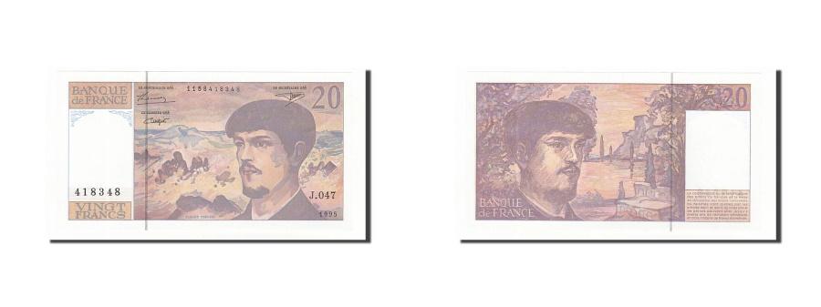 World Coins - France, 20 Francs, 1995, KM:151h, 1995, UNC(63), Fayette:66ter.1
