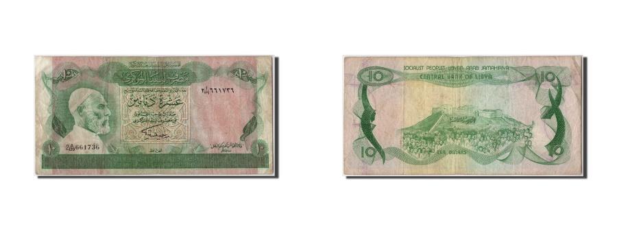 World Coins - Libya, 10 Dinars, KM #46b, VF(30-35), 2 A/139 661736