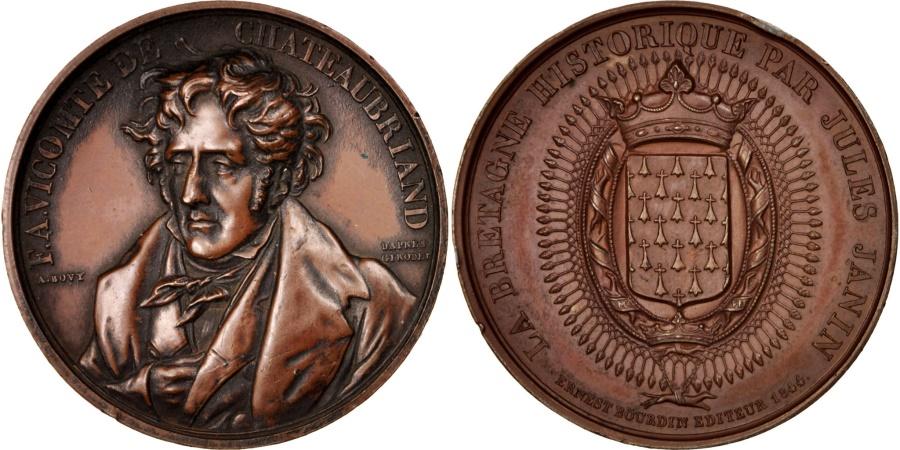 World Coins - France, Medal, La Bretagne historique par Jules Janin, Chateaubriand