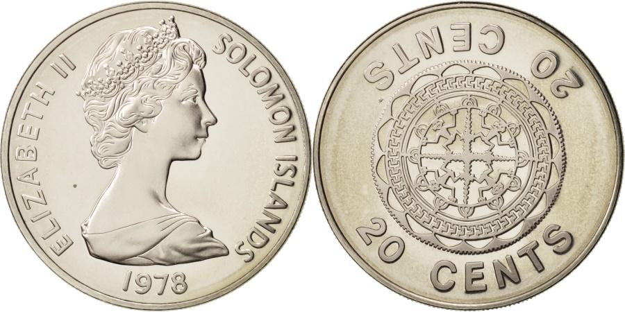World Coins - Solomon Islands, 20 Cents, 1978, , Copper-nickel, KM:5