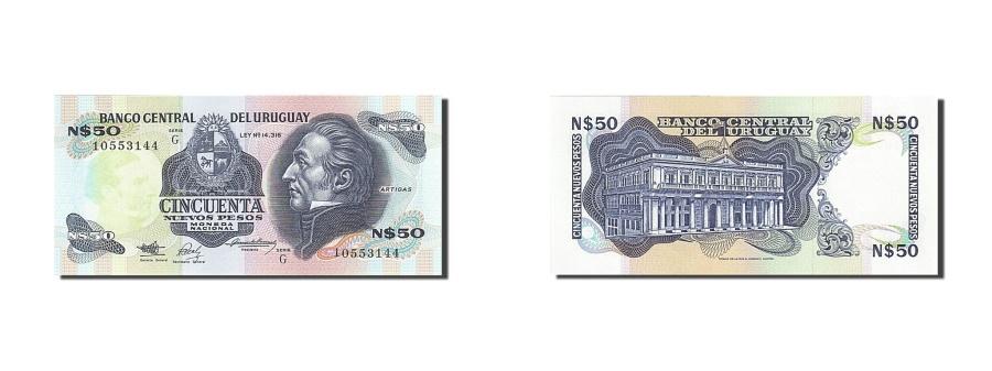 World Coins - Uruguay, 50 Nuevos Pesos, 1978-1988, KM:61a, 1989, UNC(65-70)