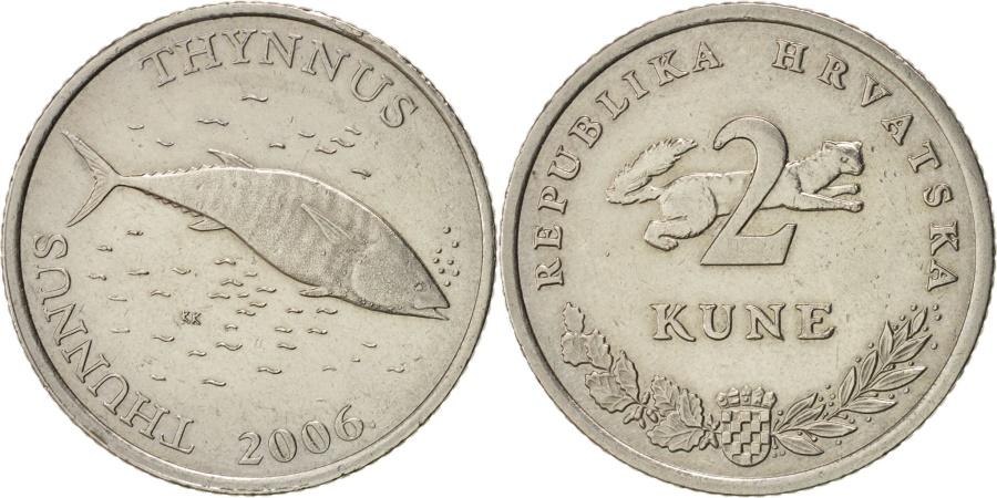 World Coins - Croatia, 2 Kune, 2006, KM:21