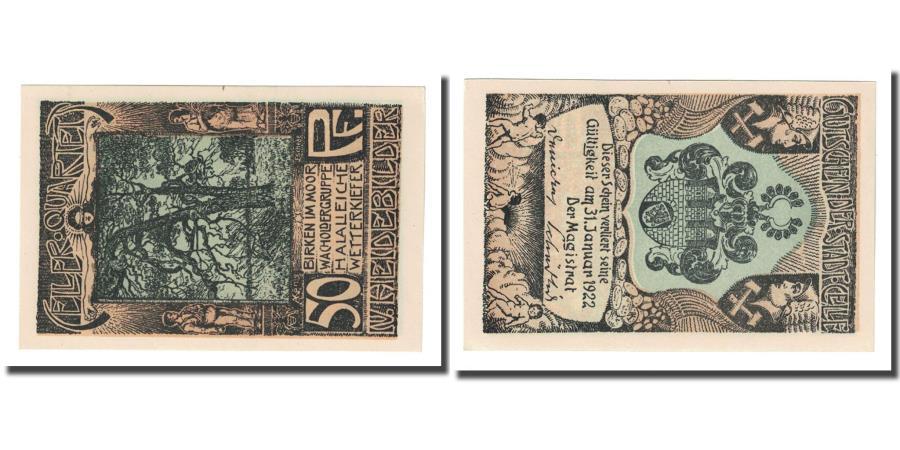 World Coins - Banknote, Germany, Celle, 50 Pfennig, Blason, 1922, UNC(63), Mehl:226.4