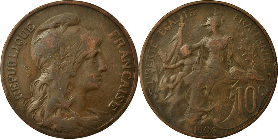 World Coins - Coin, France, Dupuis, 10 Centimes, 1906, Paris, , Bronze, KM:843
