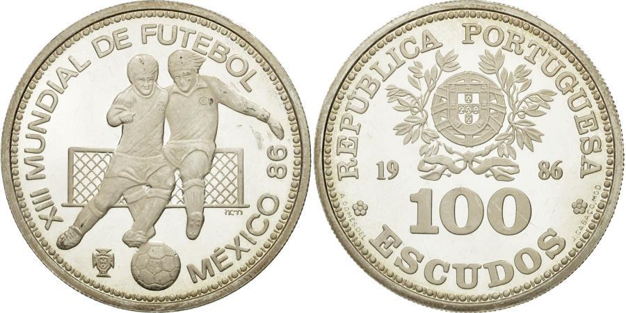 World Coins - Coin, Portugal, 100 Escudos, 1986, , Silver, KM:637a