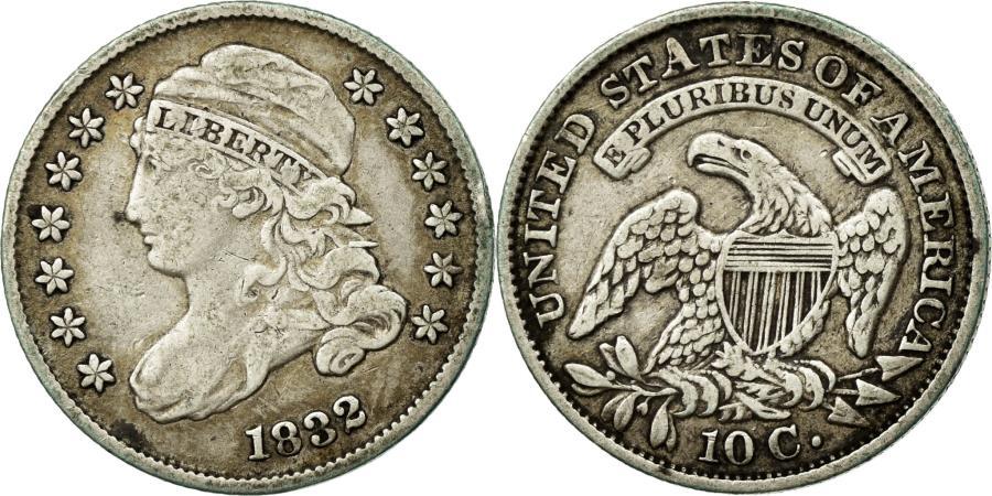 US Coins - Coin, United States, Liberty Cap Dime, Dime, 1832, U.S. Mint, Philadelphia