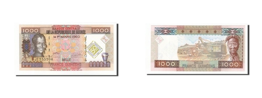 World Coins - Guinea, 1000 Francs, 2010, KM:43, 2010-03-01, UNC(65-70)