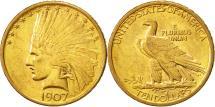 Us Coins - United States, Indian Head, $10, 1907, Philadelphia, AU(55-58), Gold, KM:125