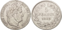 France, Louis-Philippe, 5 Francs, 1835, Lille, VF(30-35), Silver, KM:749.13