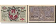 World Coins - Banknote, Poland, 20 Marek, 1917, 1917, KM:14, AU(50-53)