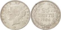 World Coins - Liberia, 25 Cents, 1906, Heaton, Birmingham, England, VF(20-25), Silver, KM:8