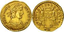 Ancient Coins - Constans, Solidus, Trier, MS(63), Gold, RIC:135