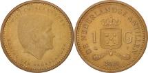World Coins - Netherlands Antilles, Gulden, 2014, AU(50-53), Aureate Steel