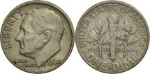 Us Coins - United States, Roosevelt Dime, Dime, 1964, U.S. Mint, Denver, AU(55-58), Silver
