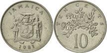 World Coins - Jamaica, Elizabeth II, 10 Cents, 1981, Franklin Mint, AU(55-58), Copper-nickel
