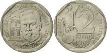 World Coins - France, Pasteur, 2 Francs, 1995, Paris, MS(63), Nickel, KM:1119, Gadoury:549