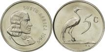 World Coins - South Africa, 5 Cents, 1965, MS(63), Nickel, KM:67.1