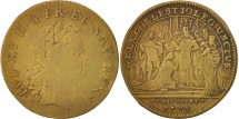 World Coins - France, Token, Royal, Louis XV, Coronation at Reims, 1723, VF(20-25), Brass