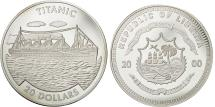World Coins - Liberia, 20 Dollars, Titanic, 2000, MS(65-70), Silver, KM:590