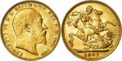 World Coins - Coin, Australia, Edward VII, Sovereign, 1907, Melbourne, , Gold, KM:15