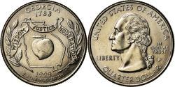 Us Coins - Coin, United States, Georgia, Quarter, 1999, U.S. Mint, Philadelphia,
