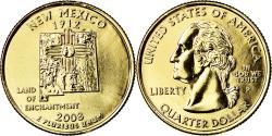 Us Coins - Coin, United States, New Mexico, Quarter, 2008, U.S. Mint, Philadelphia, golden