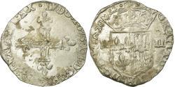 World Coins - Coin, France, Louis XIII, 1/4 Écu de Navarre, 1/4 Ecu, 1620, Saint Palais