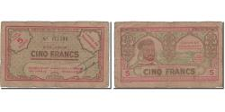 World Coins - Banknote, Algeria, 5 Francs, 1943, 1943, VF(30-35)