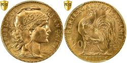 World Coins - Coin, France, Marianne, 20 Francs, 1910, PCGS, MS66, Gold, KM:857, graded