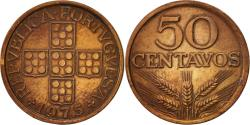 World Coins - Portugal, 50 Centavos, 1975, , Bronze, KM:596