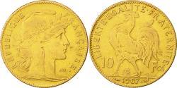Ancient Coins - Coin, France, Marianne, 10 Francs, 1907, Paris, VF(30-35), Gold, KM:846