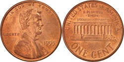 Us Coins - United States, Lincoln Cent, 1995, Philadelphia, , KM:201b