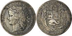 World Coins - Coin, Peru, 5 Pesetas, 1880, Lima, , Silver, KM:201.1
