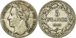 World Coins - Coin, Belgium, Leopold I, 5 Francs, 5 Frank, 1849, , Silver, KM:3.2