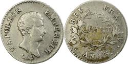 World Coins - Coin, France, Napoléon I, 1/4 Franc, AN 13, Paris, , Silver, KM:654.1