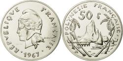World Coins - Coin, French Polynesia, 50 Francs, 1967, Paris, ESSAI, , Nickel, KM:E3